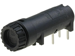 държач за предп. 20x5мм; хоризонтален за монтаж на платка; Fingergrip капачка; IP40