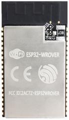 Wi-Fi 2.4GHz, 802.11 b/g/n + Bluetooth LE v4.2 Module; ESP32-D0WDQ6, 32Mbits PSRAM, 32Mbits SPI flash; 2.3-3.6VDC; 18x31.4x3.3mm; PCB Antenna