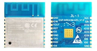 Wi-Fi Module; 2.4GHz, 802.11 b/g/n; ESP8266EX with 2MB(16Mbits) SPI flash; UART Mode; 2.7-3.6VDC; 18x20x3.2mm; PCB Antenna