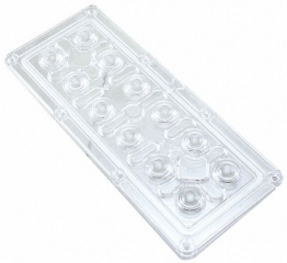 Lens Array IP High Bay, 90° wide beam , Screw Fastening, Material-PMMA 172x71x8mm