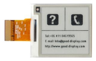 1.54''E-ink 3.0V HVD 31.8*36.32*1.05mm DP 0.138*0.138mm