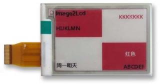 2.7''E-ink  3.3V BWR Color HVD 70.42?45.8?0.98mm DP 0.217?0.217mm