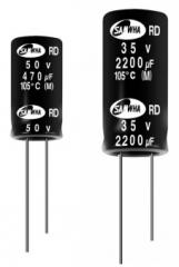 Electrolytic capacitor, Wide temperature range -55~105°C, 20%, 12.5x25mm, RM5