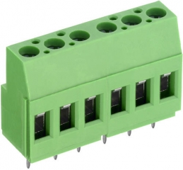 Terminal block, 2-pin, RM5.0mm, 20A, 300V,  AWG30-12, Vertical, Green