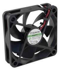 12VDC, 60x60x15mm, 0.60W, 25.48m3/h, 3000RPM