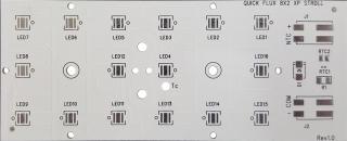 Алуминиева печатна платка 50x121.4mm за 16 CREE XLamp XP/XTE светодиодa