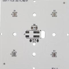 Алуминиева печатна плата 70x70mm за 4бр. CREE XLamp XP/XTE