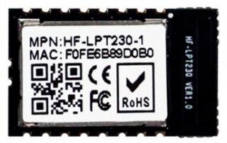 Wi-Fi Module 802.11b/g/n; Low Power; Cortex-M4 SOC 160MHz; 352KB RAM; 1MB Flash; UART/SPI/GPIO; SMD 18pin; 22.0x13.5x3.0mm; Internal Antenna