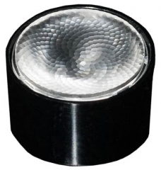 Lens Olga ?32 x 19mm, ~40° wide beam with flange, Pin, Tape Fastening