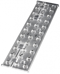 Linear lens 3x11 mid-power LED, ~60° wide beam, Screw Fastening, PMMA, 285x64x8.0mm