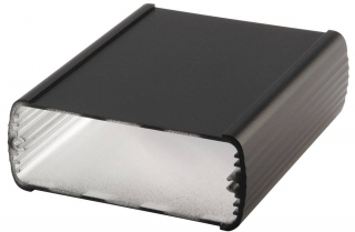 Universal aluminium profile enclosure Alubos, Black, 82x32mm, Length 1000mm, End covers:ABD-800, ABM-800..., IP65
