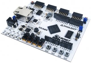 Artix-7 FPGA Development Board; Xilinx XC7A35TICSG324-1L FPGA; 33280 logic cells in 5200 slices; 90 DSP slices; On-chip XADC