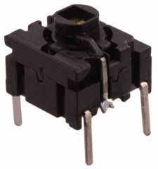 Pushbutton Switch;Leveled Actuator;10x10mm;SPST/OFF-ON;3.5N;50mA/24VDC;IP67 White Led