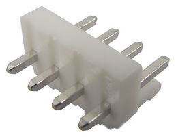 Locking header, 3.96mm, 1x4P, Top entry, 10A, 250V AC/DC, TH PCB, VHR-4 mating