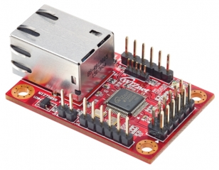 Compact Serial to Ethernet Module based on W7500P; Pin header 3.3V TTL / RJ45; 48 x 30 x 18mm; 0 to 70°C