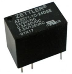 1A/24V 3840Ohms SPDT Monostable, subminiature