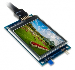 Multi-Touch Display System; PIC32MZ + 2.8' QVGA 320x240; For use with Arduino, chipKIT and Arty platforms