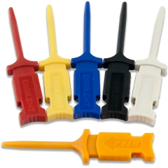"Mini ""Grabber"" Test Clips (6-pack) for use with Analog Discovery Flywires; Up to 1.27mm"