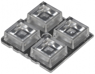 Lens Array High Bay, 100° wide beam, Screw/Pin/Glue Fastening, Material-PMMA 50x50x10mm