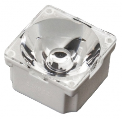Assembly Lens LAURA, 8° spot beam, Holder/tape/pins, Material-PMMA/PC/PU 22x22x13.1mm