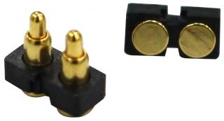 Pogo Pin 12V/2A; 2 Pins; Flat Type; T/L 5.0mm; W/H 3.6mm