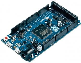 Evaluation Board based on SAM3X8E ARM Cortex-M3; 54 digital I/O (incl. 12 PWM); 12 analog inputs; UARTx4; DACx2; SPI; JTAG; microUSB; Power jack