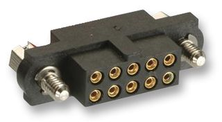 Receptacle Connector, 2x17, P2.00mm, Crimp Gold Plated Contact, Large Bore, 22 AWG,Panel Mount