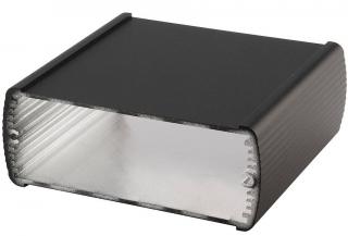 Box Alubos extruded Al closed profile, 108x42x1000mm, P65, Black