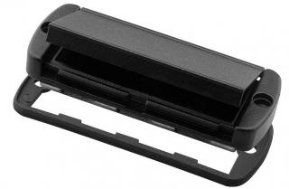 Mounting lid with hinged aluminium flap, for ABP(H) 800, black, IP65, aluminium