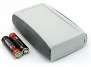 Кутия, 122.4x79.46x33.53mm, сива с черни страни, с отделение за батерии