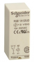 Interface plug-in relay, SPDT, Coil 230VAC, Contact Voltage 250VAC/28VDC, Current 12A, PCB