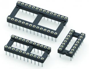 Hi-Rel Machined 18-pin IC Socket, 7.62mm
