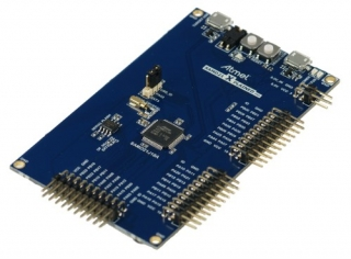 SAM D21 Xplained Pro evaluation kit for prototyping with SAM D21 ARM® Cortex®-M0+ based MCUs