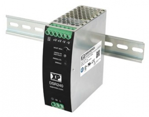 DIN Rail; In. 85-264VAC; Out. 24V(24-28)/10A; -25°C to 70°C(Full power to 60°C); Eff. 94%; 124.0x45.0x119.0mm