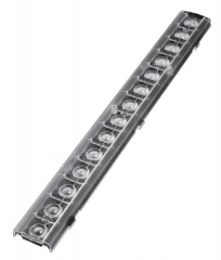 Linear lens for retail lighting 279x29x9.6mm, ~60° beam, clip fixing