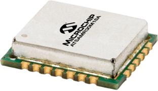 Compact 802.15.4 Sub-GHz Module; ATSAMR30E18A SiP with ARM Cortex-M0+ MCU and integrated transceiver; 256KB Flash; UART, SPI, I2C, LIN; 12.7x11x2.71mm