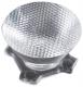Assembly Lens Heidi, ~25° medium beam, Pin/Tape Fastening, Material-PMMA O21.6x11.7mm