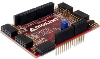 Adapter Board for Uno R3 Standard to Pmod; Compatible with the uC32, WF32, Wi-FIRE, PYNQ, Arty boards