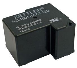 50A/30VDC; Coil 12V 96 Ohms; SPDT Monostable; Sealed; Class F (155°C)