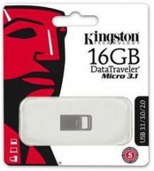 DataTraveler® Micro 3.1 USB Flash Drive 16GB Metal Casing