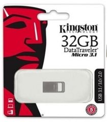 DataTraveler® Micro 3.1 USB Flash Drive 32GB Metal Casing