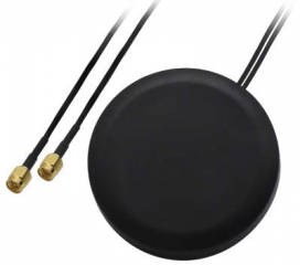 COMBO MIMO Mobile ROOF SMA Antenna; Frequency Range: 698-960/1710-2690 MHz; Main Ant. Gain 2.5 dBi; Aux Ant. Gain 2.0 dBi; O80x5mm; IP67