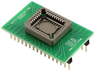 PLCC32 Socket to DIP32(P2.54, 15.24mm) Adapter