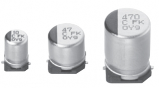 Кондензатор електролитен, широк темп. диапазон -55~105°C, D10xL10.5мм, 5000ч./105°, AEC-Q200