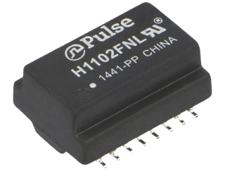 LAN 10G Base-T Pulse Transformer, 1CT:1CT Transmitter, 1CT:1CT Receiver, 350µH, SMD, 12.7x9.09x5.99mm