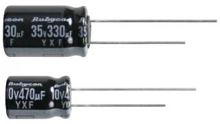 Кондензатор електролитен, 1.0uF, 50V, 105C, 20%, Low ESR, дълъг живот 5000h/105C, 11x5mm, RM2