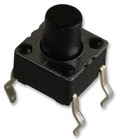 SMD Tact Switch, LPH basic module 6x6x7mm, Top Actuated, Operating Force 1.6N,  SPST-NO, 50mA@12VDC, TH