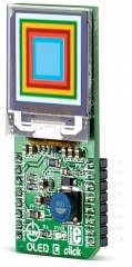Board with PSP27801 96x96 OLED display and SSD1351 OLED driver with controller, various color support, SPI interface