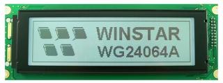 Graphic, 240x64 dots,180x65x12.3mm, STN Neg., Blue, White LED B/L, Transmissive, W.T, 12:00, Vdd logic/LCD=5.0/min10.1V