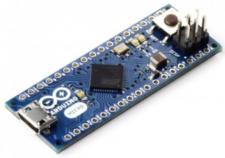 Evaluation Board based on ATmega32u4; up to 20 digital I/O;  up to 7 PWM; up to 12 analog inputs; microUSB; Power jack; Reset button